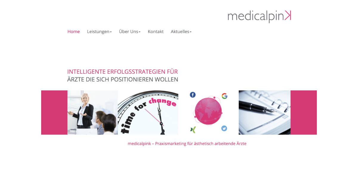 Creative Punkx Project Responsive Website für Medicalpink